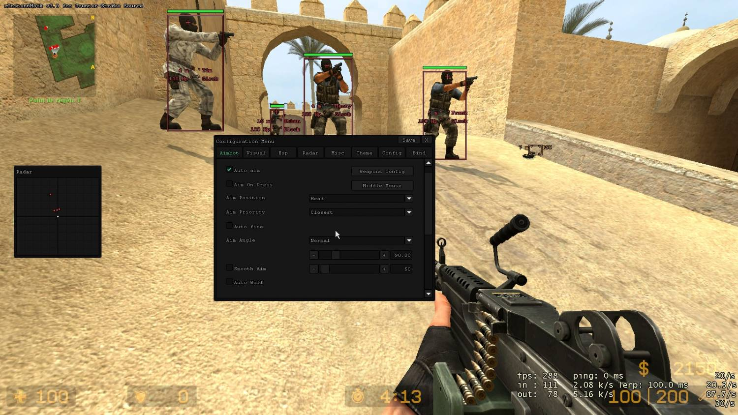 Чит для Counter-Strike Source - Чит x22 xInstantHook v3.0 - х22 для КСС